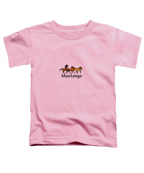 Wild Mustangs On The Run Toddler T-Shirt