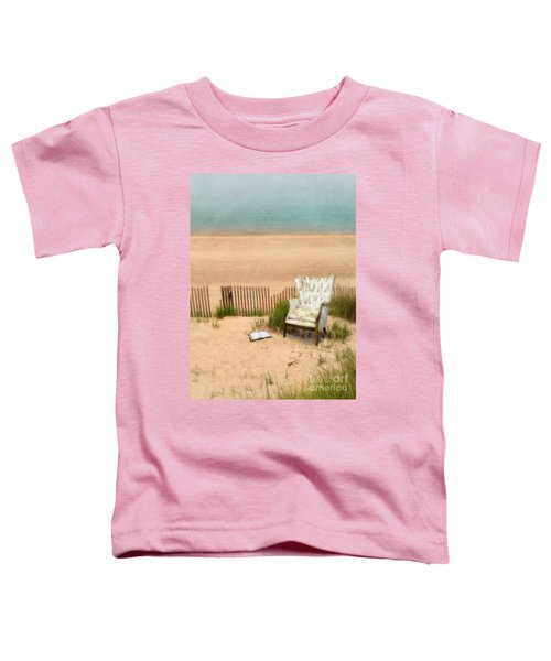 Wingback Chair At The Beach Toddler T-Shirt