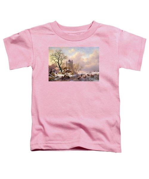 Winter Landscape With Castle Toddler T-Shirt
