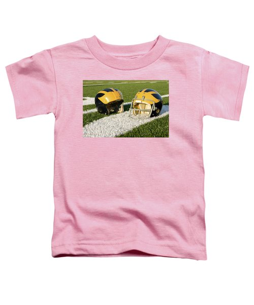 Wolverine Helmets From Different Eras On The Field Toddler T-Shirt