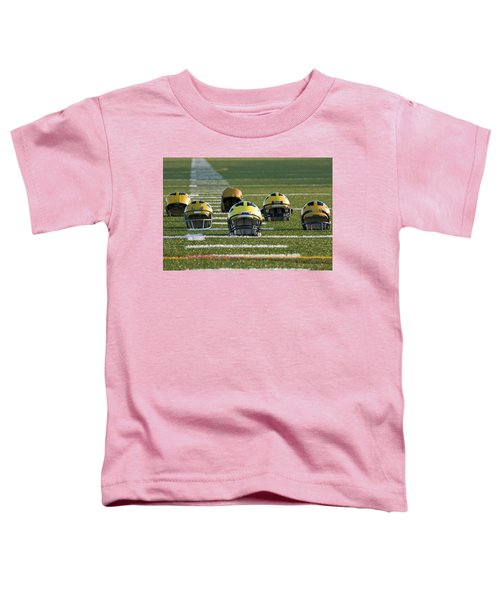 Wolverine Helmets Throughout History On The Field Toddler T-Shirt