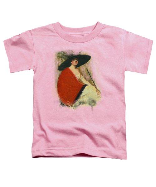 Woman Wearing Hat Toddler T-Shirt