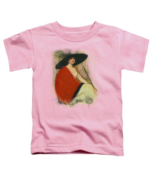 Woman Wearing Hat Toddler T-Shirt