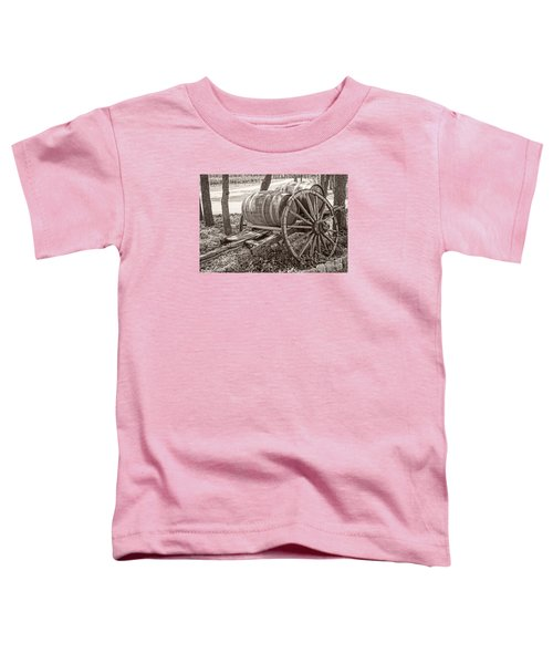 Wooden Wine Barrels On Cart Toddler T-Shirt
