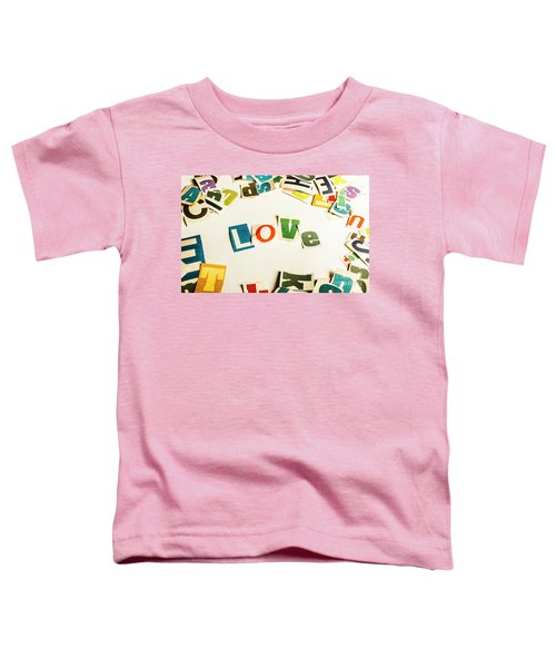 Word Of Love Toddler T-Shirt
