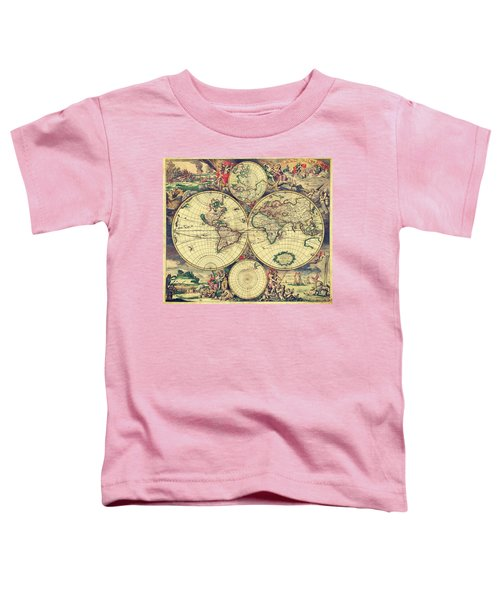 World Map 1689 Toddler T-Shirt