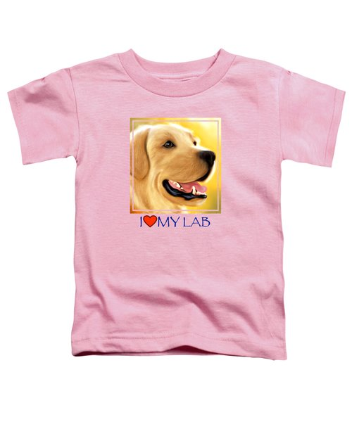 Yellow Lab Portrait Toddler T-Shirt