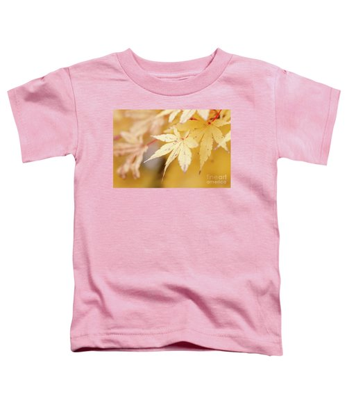 Yellow Leaf With Red Veins Toddler T-Shirt