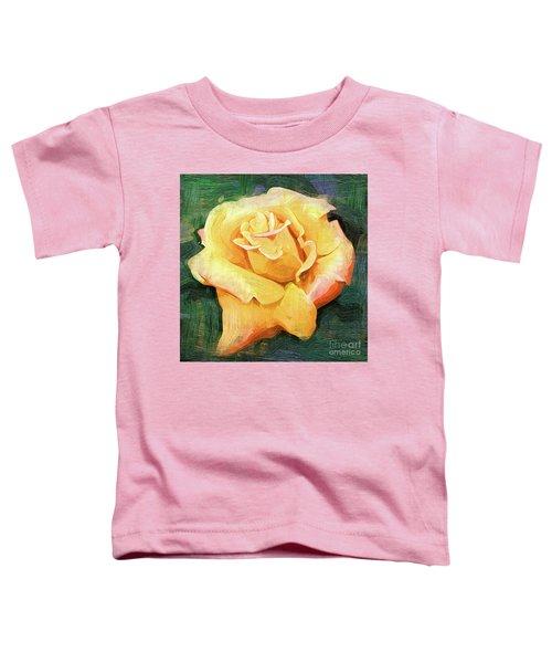 Yellow Rose Bloom In Oil Toddler T-Shirt