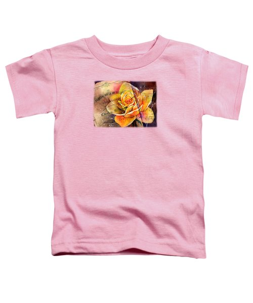 Yellow Rose Of Texas Toddler T-Shirt by Hailey E Herrera