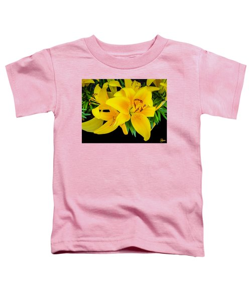 Yellow Tiger Lily In The Spring Toddler T-Shirt