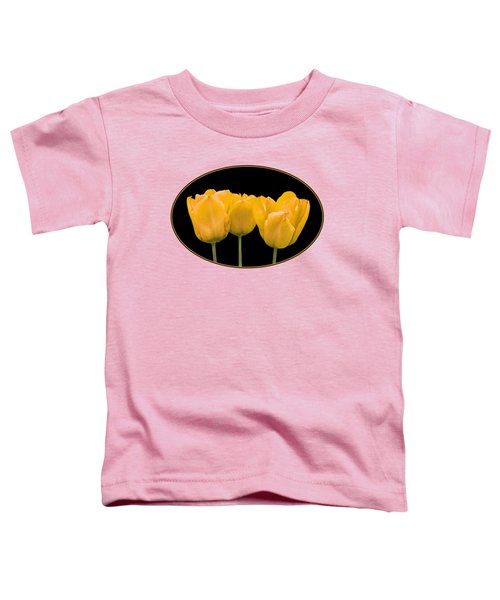Yellow Tulip Triple Toddler T-Shirt by Gill Billington