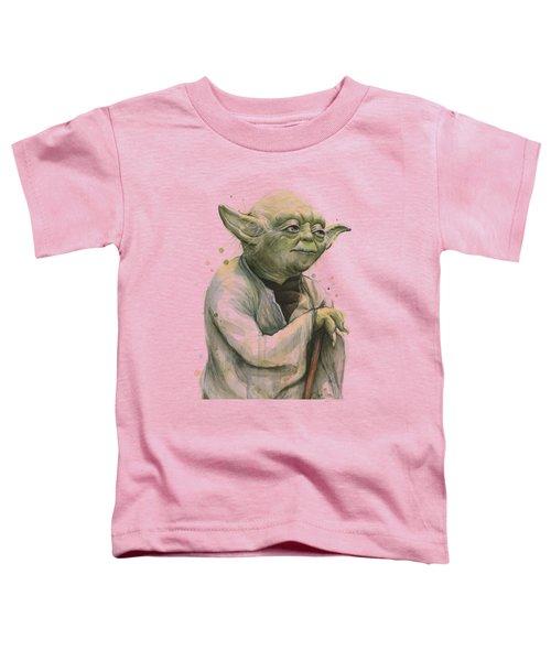 Yoda Portrait Toddler T-Shirt by Olga Shvartsur