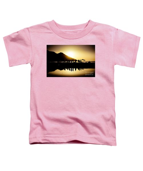 Yoga Sunrise At Sea Coast Toddler T-Shirt
