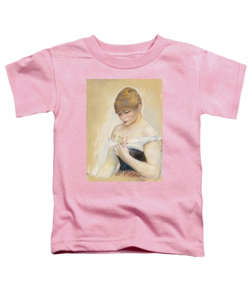 Young Woman Holding A Flower. Portrait Of Jeanne Samary Toddler T-Shirt
