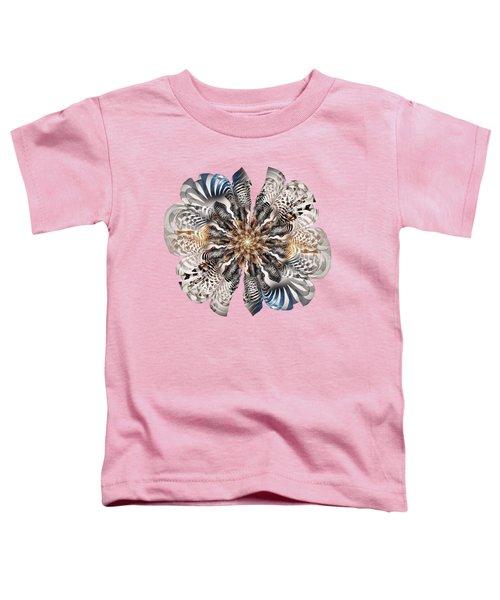 Zebra Flower Toddler T-Shirt by Anastasiya Malakhova