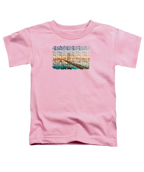 Bridge Watercolor Drawing  Toddler T-Shirt