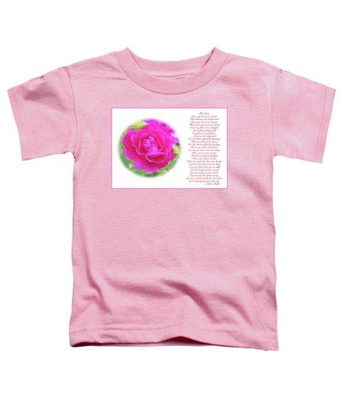 Pink Rose And Song Lyrics Toddler T-Shirt