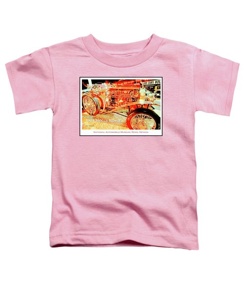 1921 Rolls Royce Classic Automobile Toddler T-Shirt