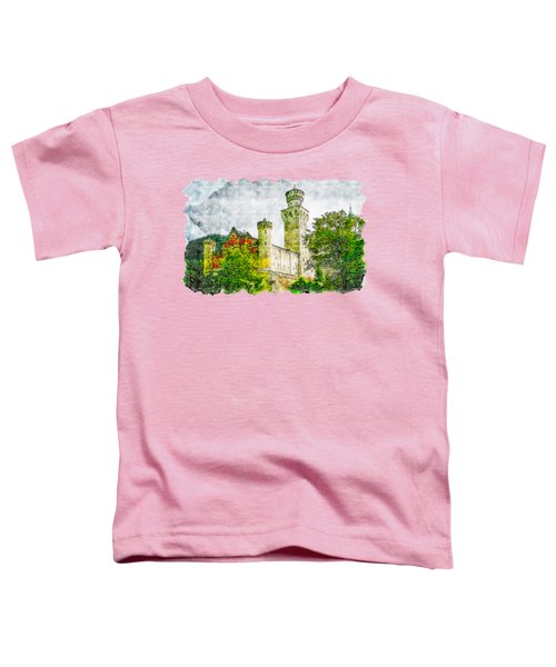 Castle Watercolor Drawing  Toddler T-Shirt