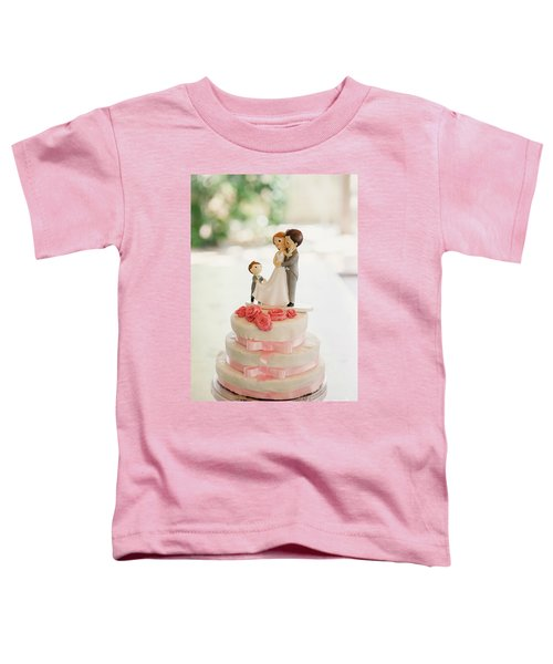 Desserts And Wedding Cake With Very Sweet Cupcakes At An Event. Toddler T-Shirt