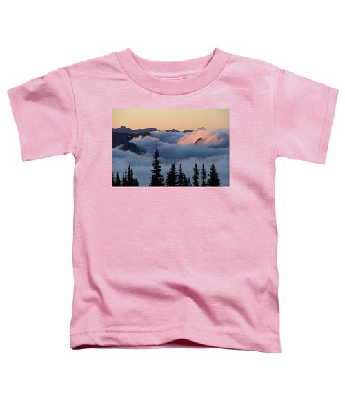 Above The Clouds Sunrise Toddler T-Shirt
