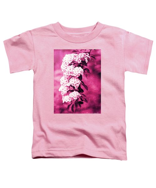 Abstract Spirea Cascade In Red Toddler T-Shirt