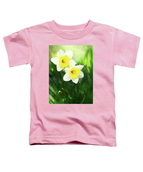 Lovely Painted Daffodil Pair Toddler T-Shirt