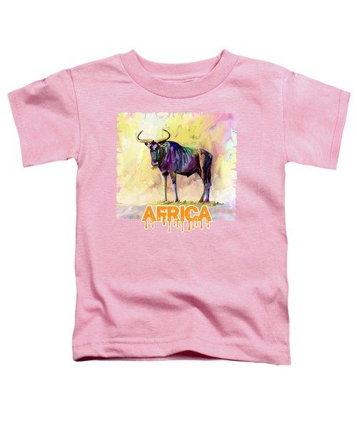 Colorful Gnu Toddler T-Shirt
