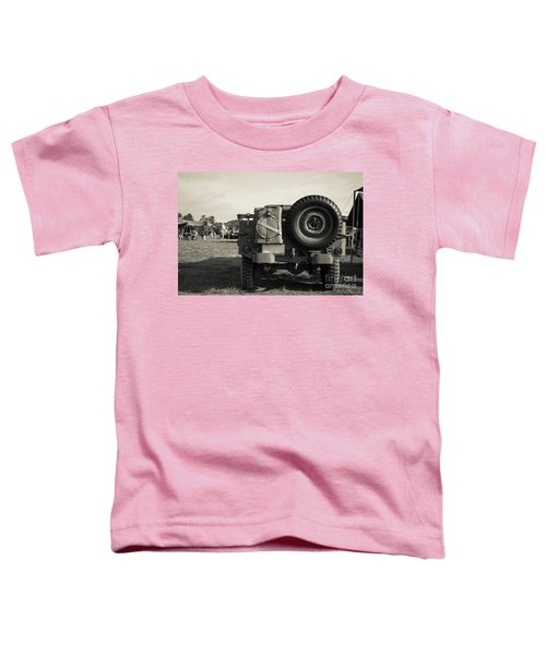 Back Of A World War II Era Military Us Army Jeep Toddler T-Shirt