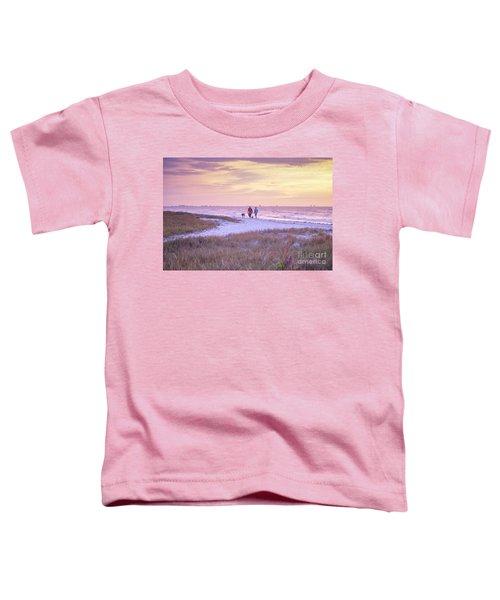 Sunrise Stroll On The Beach Toddler T-Shirt