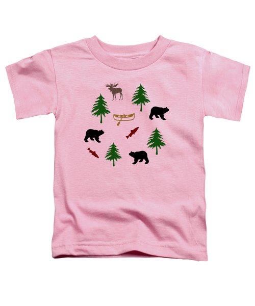 Bear Moose Pattern Toddler T-Shirt
