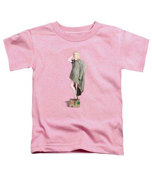 Beautiful Military Pinup Girl. Classic Beauty Toddler T-Shirt