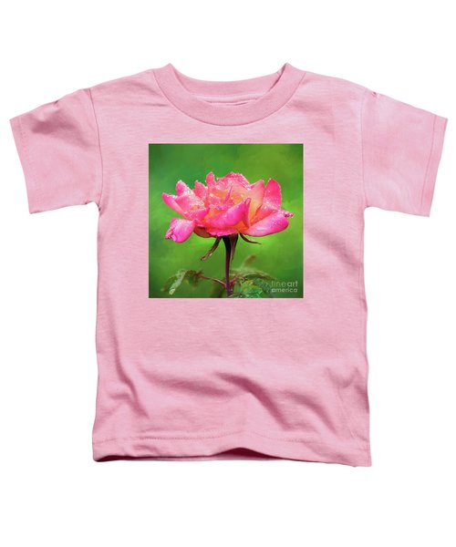 Beautiful Two-tone Rose In The Rain Toddler T-Shirt