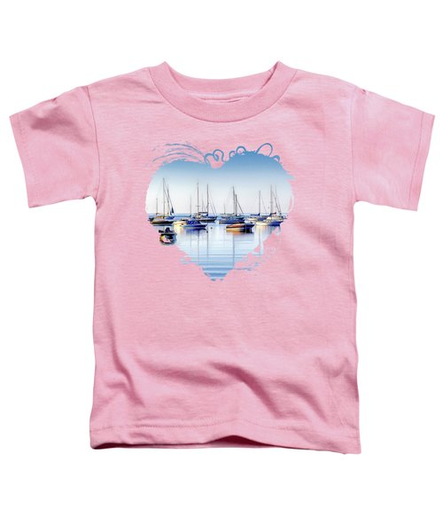 Boat Reflections Panorama Toddler T-Shirt