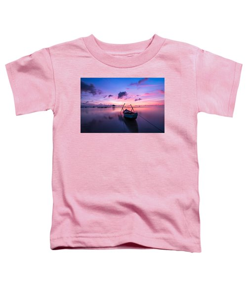 Boat Under The Sunset Toddler T-Shirt