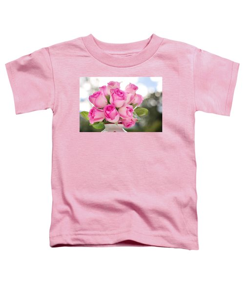 Bouquet Of Pink Roses Toddler T-Shirt