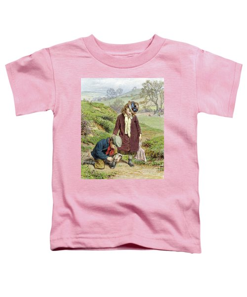 Brother Tying His Sisters Shoe Toddler T-Shirt