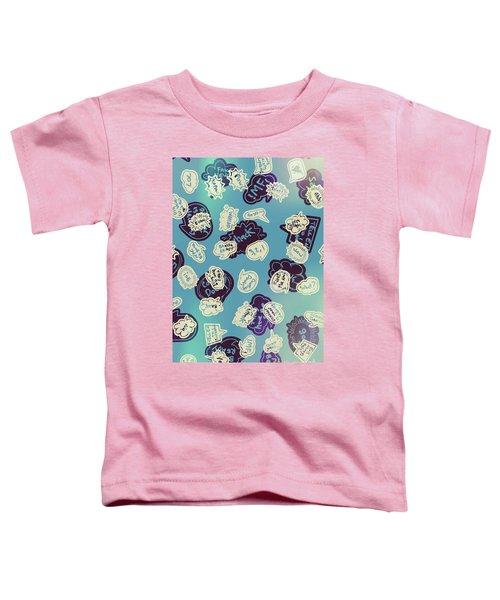 Bursts Of Cartoon Communication Toddler T-Shirt
