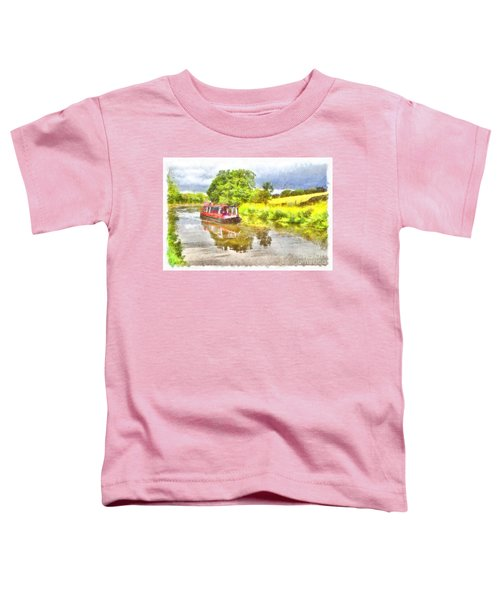 Canal Boat On The Leeds To Liverpool Canal Toddler T-Shirt