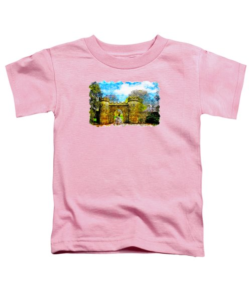 Castle Gate Watercolor Drawing  Toddler T-Shirt