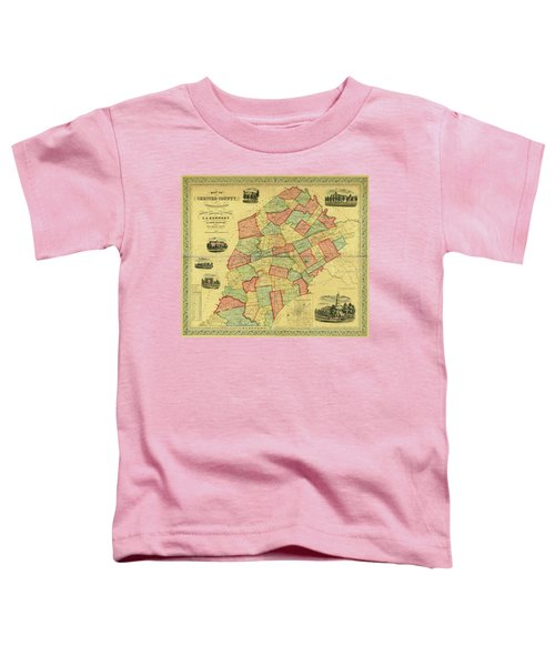 Chester County Pennsylvania Map 1856 Toddler T-Shirt