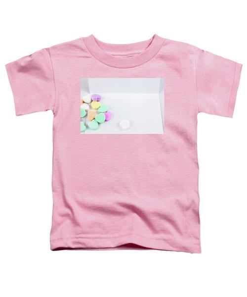 Conversation Hearts On A Notecard Toddler T-Shirt