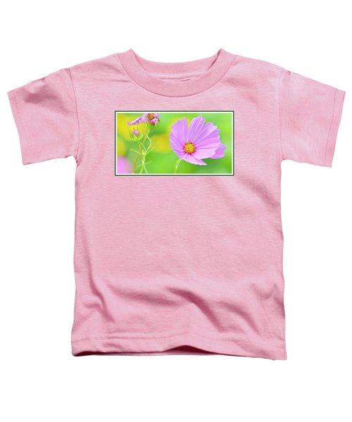 Cosmos Flower In Full Bloom, Bud Toddler T-Shirt