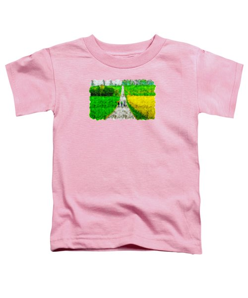 Countryside Road Watercolor Drawing  Toddler T-Shirt