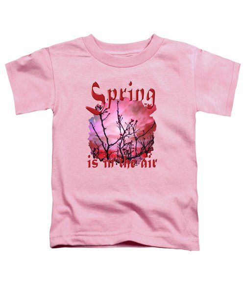 Dark Branches Red Buds And Fiery Sky  Toddler T-Shirt