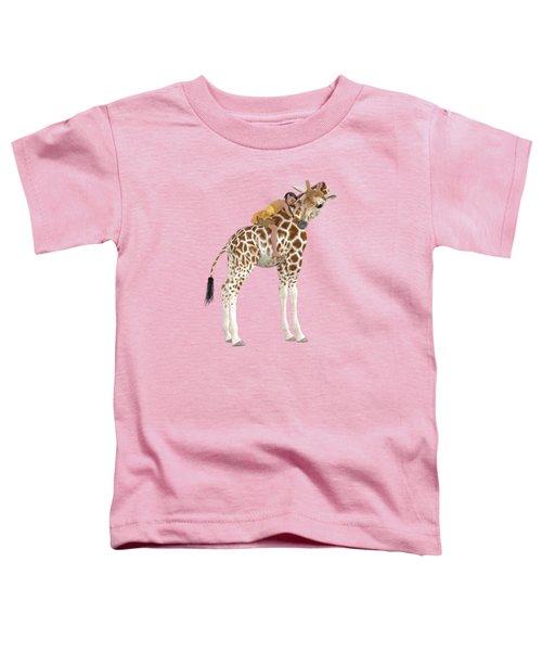 Daydreaming Of Giraffes Png Toddler T-Shirt
