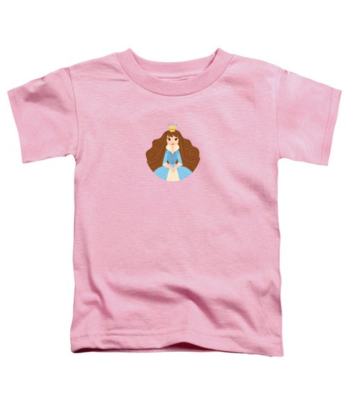 Fairy Tale Princess In A Blue Dress And Her Storybook Castle  Toddler T-Shirt