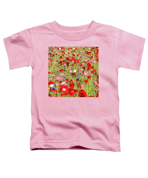 Field Of Red Poppies Toddler T-Shirt