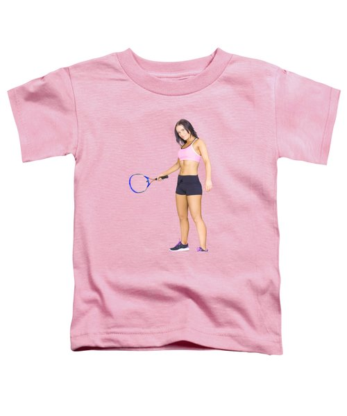 Fit Active Female Sports Person Playing Tennis Toddler T-Shirt